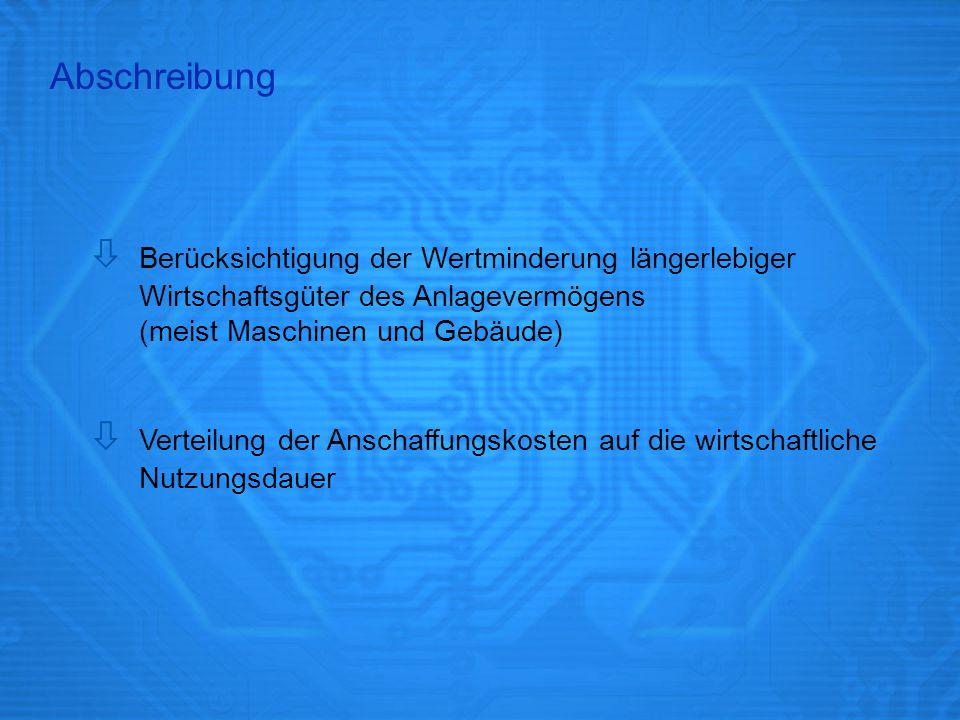 Abschreibungsverfahren Lineare Abschreibung Arithmetisch-degressive Abschreibung