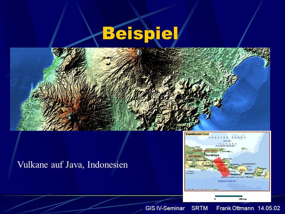 Beispiel GIS IV-Seminar SRTM Frank Ottmann 14.05.02 Vulkane auf Java, Indonesien