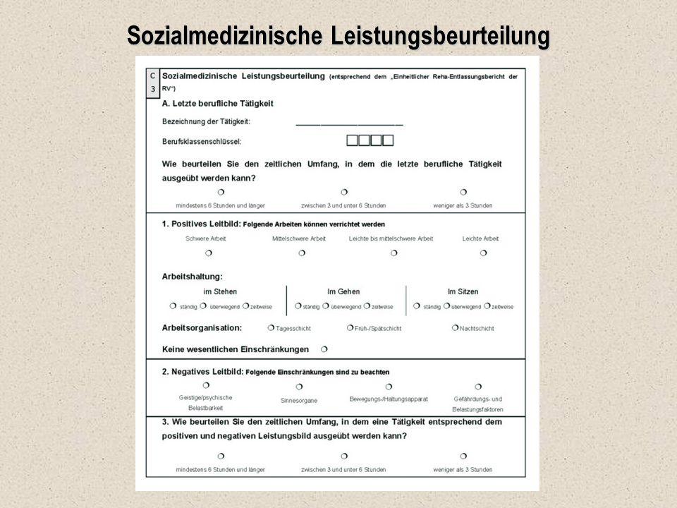 Sozialmedizinische Leistungsbeurteilung
