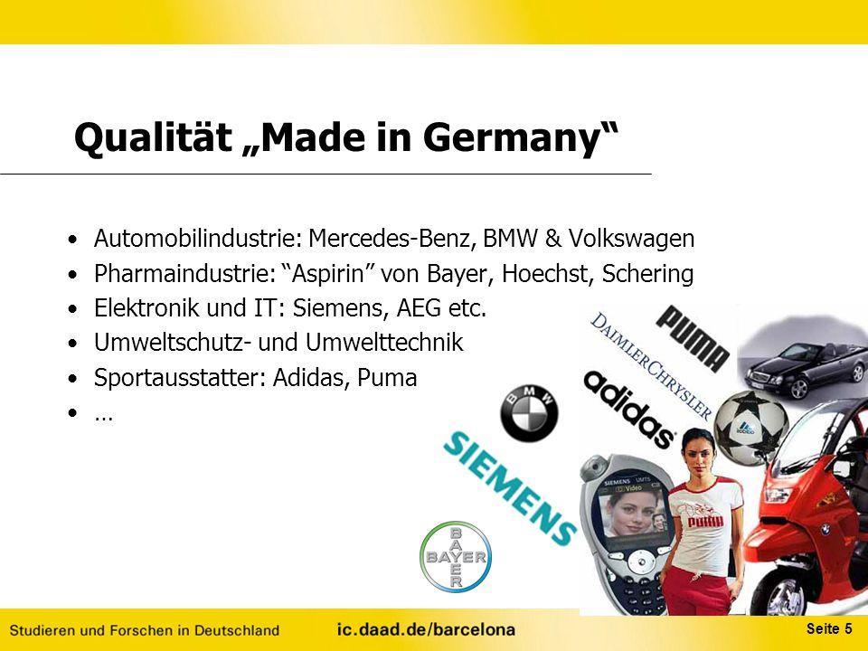 """Seite 5 Automobilindustrie: Mercedes-Benz, BMW & Volkswagen Pharmaindustrie: """"Aspirin"""" von Bayer, Hoechst, Schering Elektronik und IT: Siemens, AEG et"""