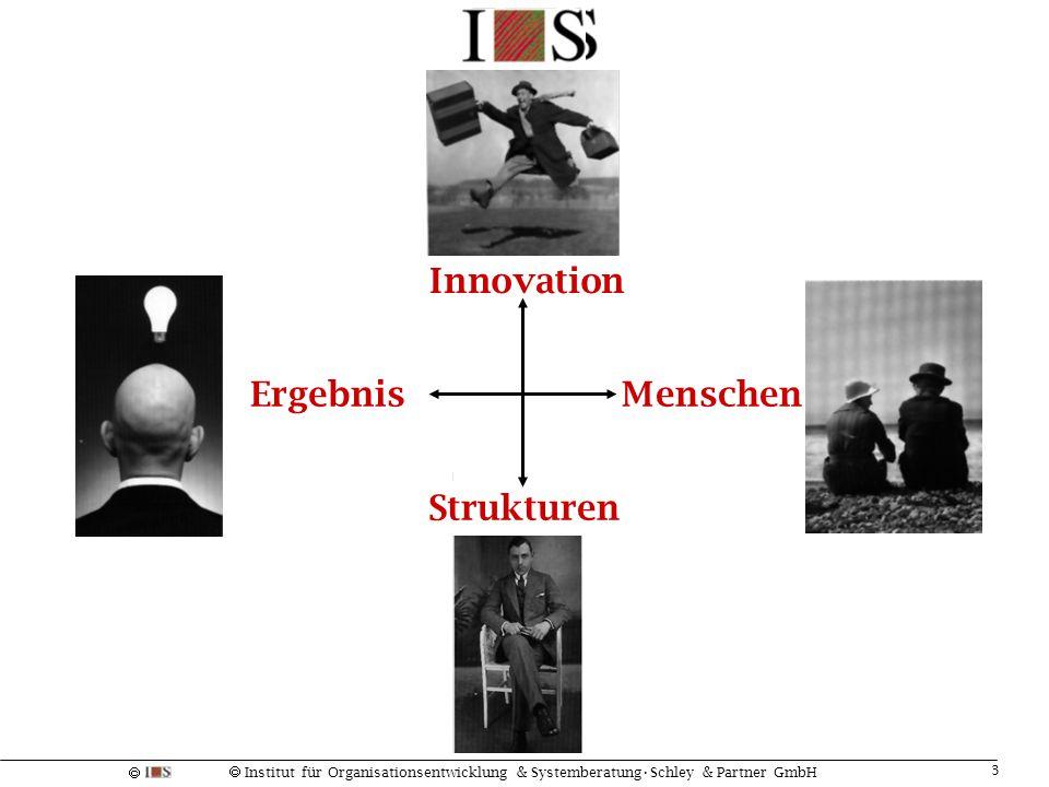  Institut für Organisationsentwicklung & SystemberatungSchley & Partner GmbH 4 Die Vierzimmer-Wohnung Zufriedenheit Erneuerung KonfusionLeugnung ?