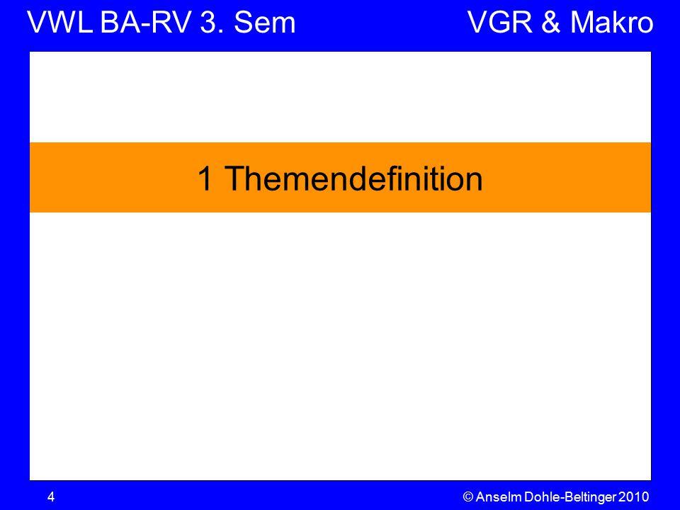 VWL BA-RV 3. SemVGR & Makro © Anselm Dohle-Beltinger 20104 1 Themendefinition