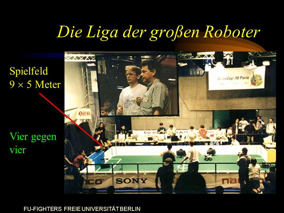FU-FIGHTERS FREIE UNIVERSITÄT BERLIN Die Liga der großen Roboter Spielfeld 9  5 Meter Vier gegen vier