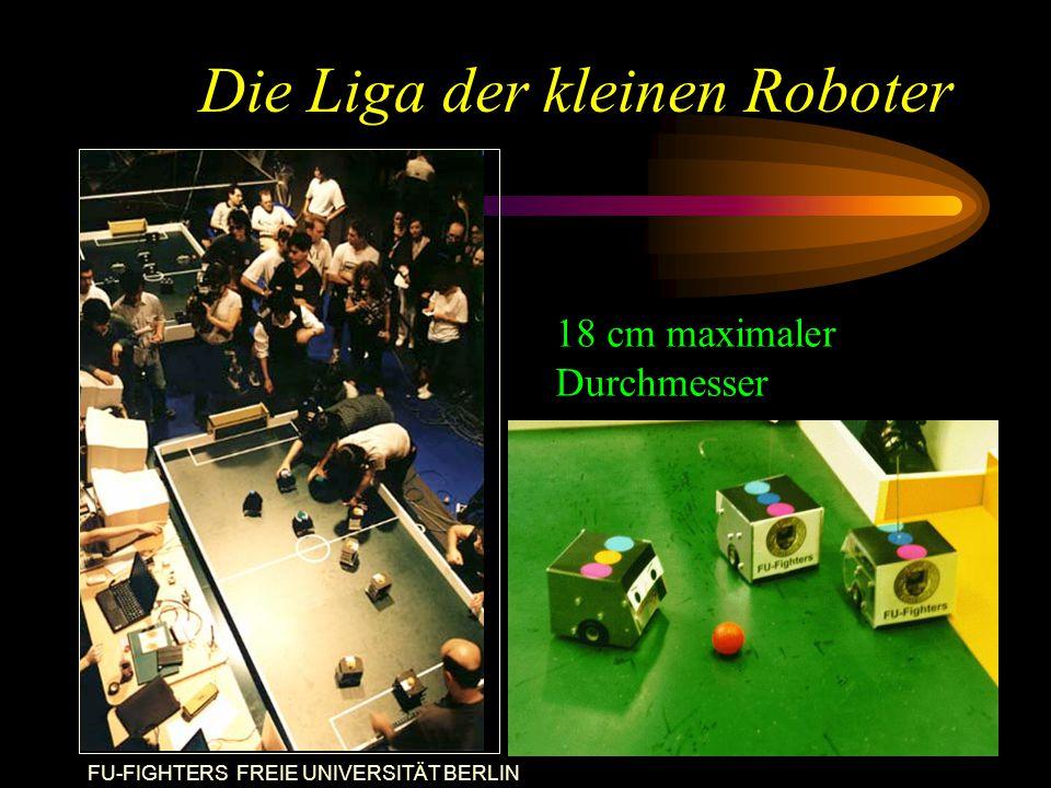 FU-FIGHTERS FREIE UNIVERSITÄT BERLIN Die Liga der kleinen Roboter 18 cm maximaler Durchmesser