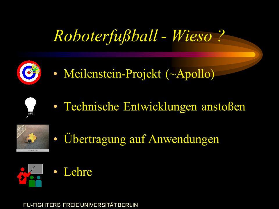 FU-FIGHTERS FREIE UNIVERSITÄT BERLIN Roboterfußball - Wieso .