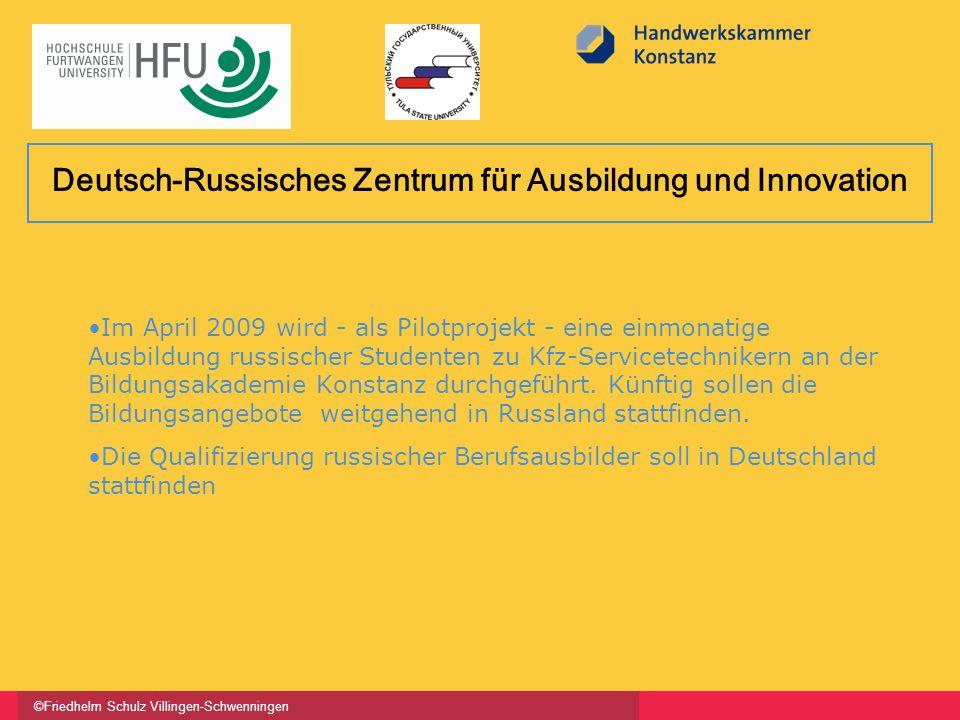 ©Friedhelm Schulz Villingen-Schwenningen Im April 2009 wird - als Pilotprojekt - eine einmonatige Ausbildung russischer Studenten zu Kfz-Servicetechnikern an der Bildungsakademie Konstanz durchgeführt.