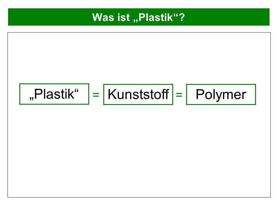 """Was ist """"Plastik""""? """"Plastik"""" Kunststoff Polymer =="""