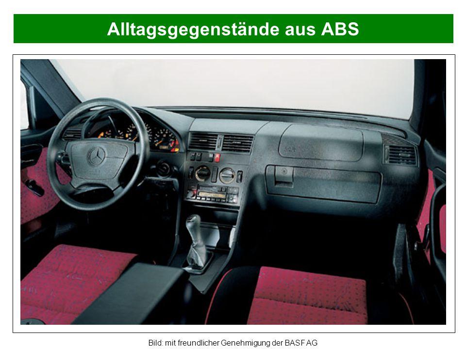 Alltagsgegenstände aus ABS Bild: mit freundlicher Genehmigung der BASF AG