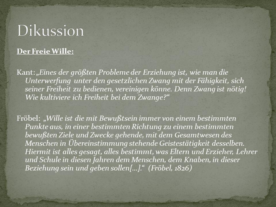 """Der Freie Wille: Kant: """"Eines der größten Probleme der Erziehung ist, wie man die Unterwerfung unter den gesetzlichen Zwang mit der Fähigkeit, sich se"""