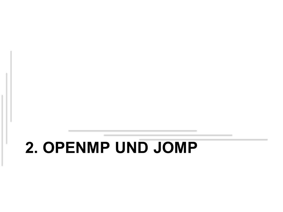 2. OPENMP UND JOMP