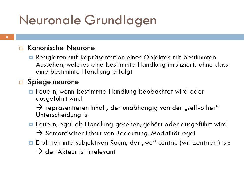 Diskussion 19  Wie viel kann das System Spiegelneurone erklären.