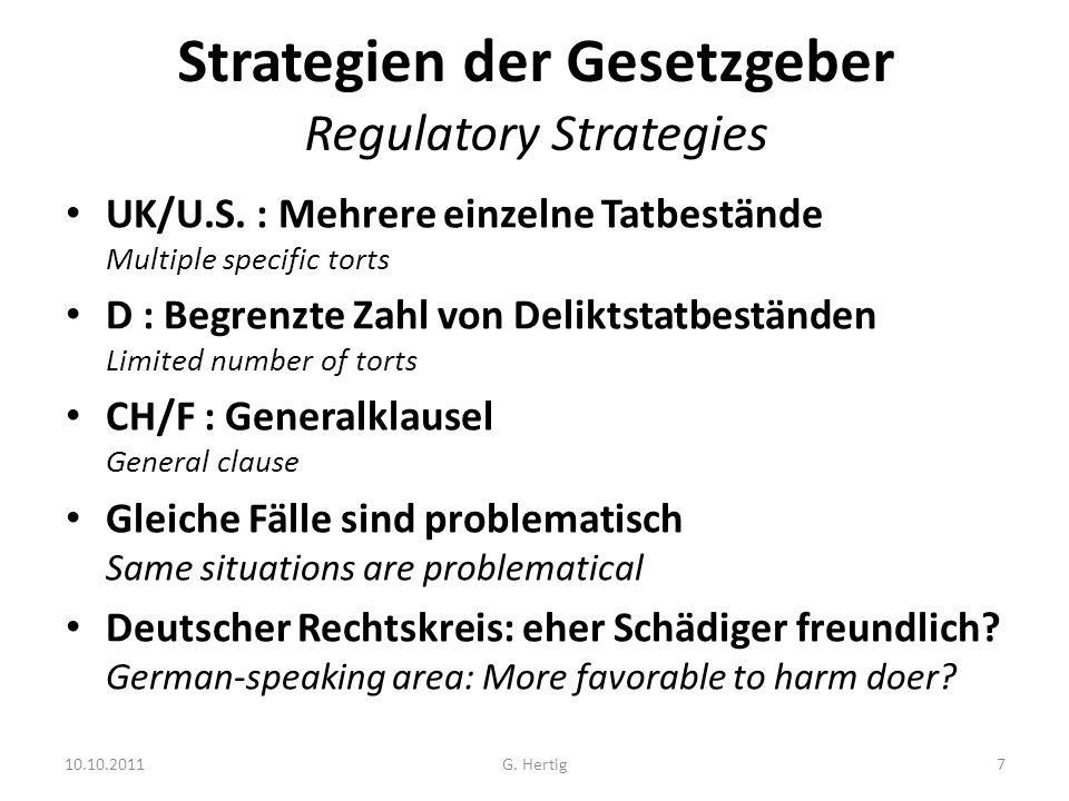 10.10.2011 Sorgfaltspflicht vs.Rechtswidrigkeit/Fahrlässigkeit Duty of Care vs.