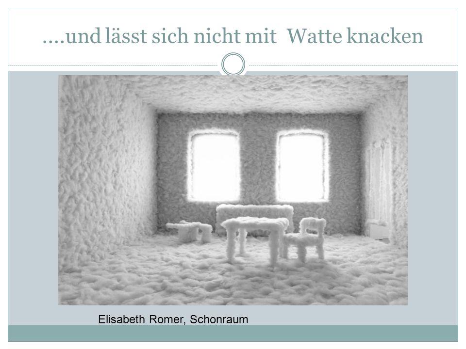 ....und lässt sich nicht mit Watte knacken Elisabeth Romer, Schonraum