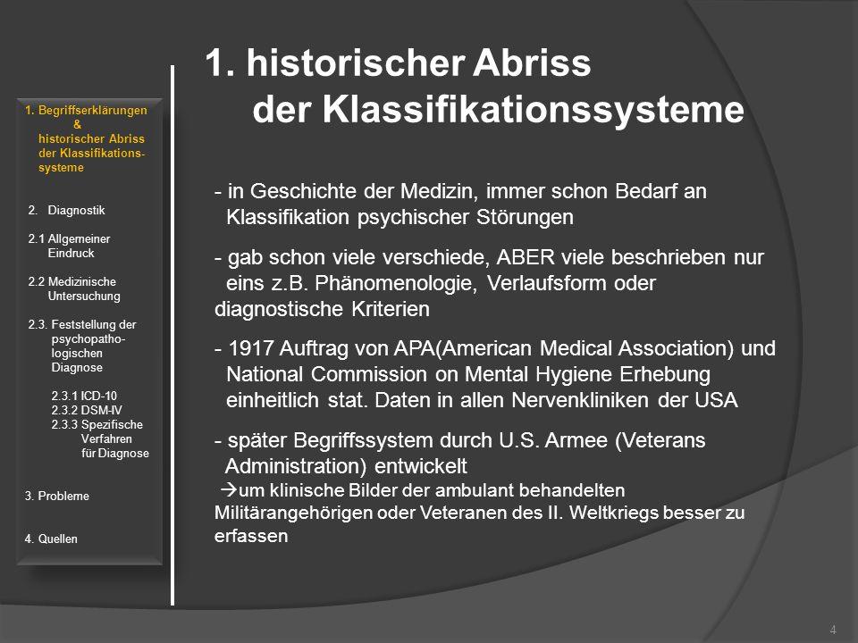 5 1.Begriffserklärungen & historischer Abriss der Klassifikations- systeme 2.