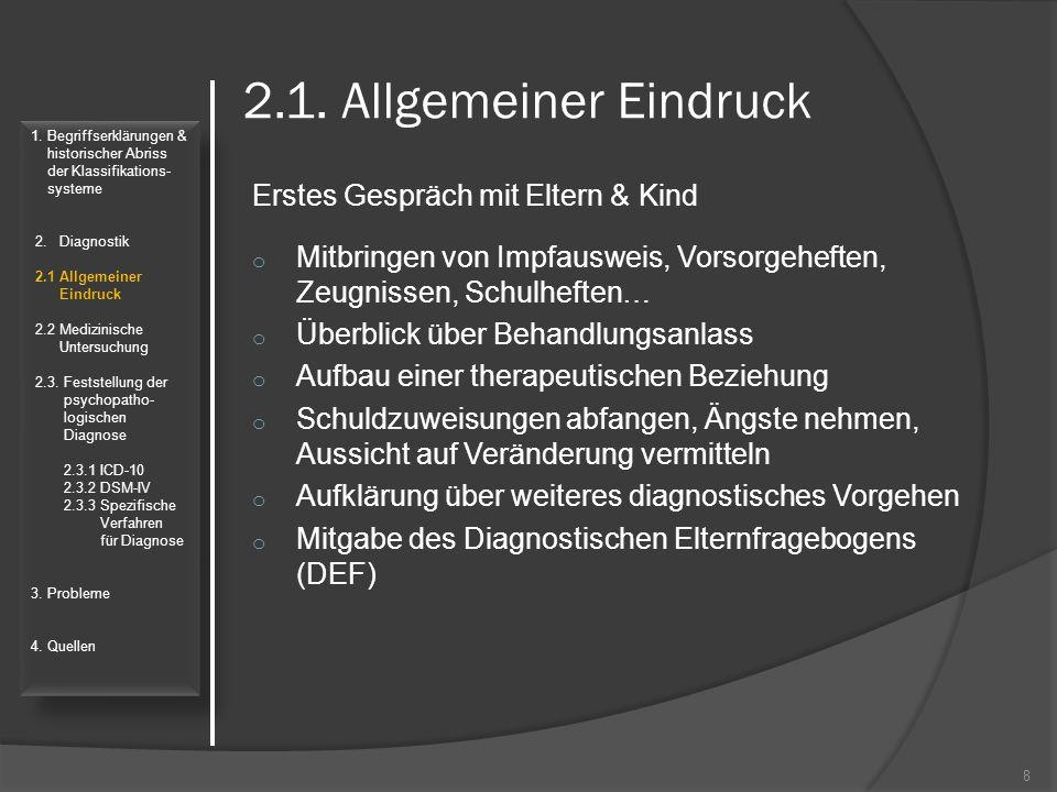 Quellen: Dilling, Horst; Freyberger, Harald; Cooper, John E.