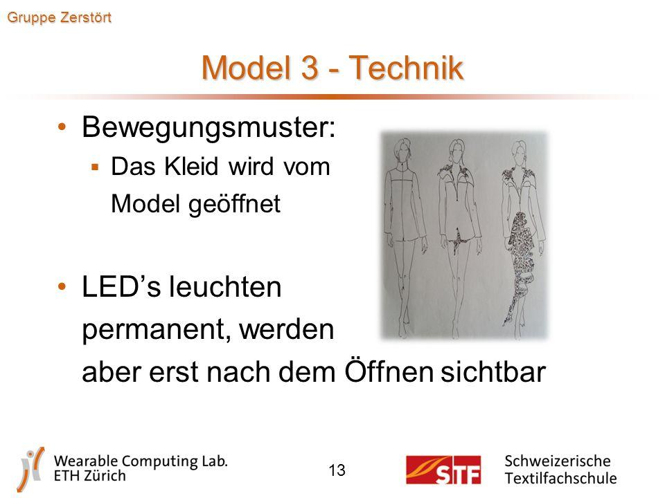 Model 3 - Design 12 Gruppe Zerstört
