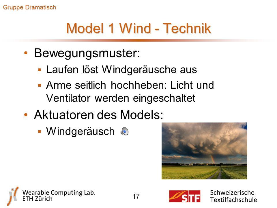 Model 1 Wind - Design 16 Gruppe Dramatisch  Stoffbänder, die beim Laufen und durch die Windmaschine flattern