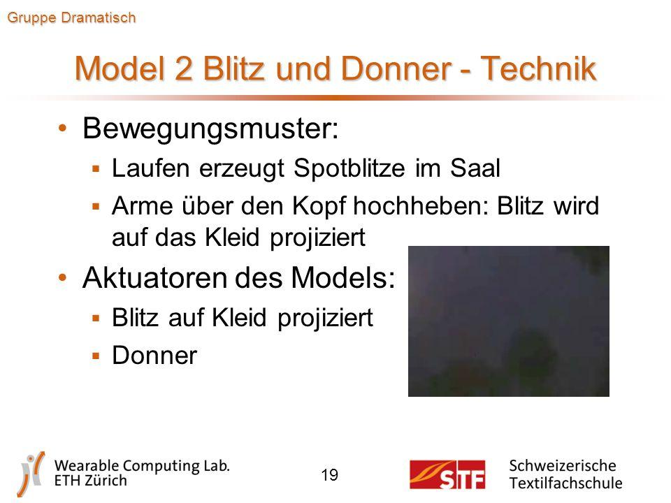 Model 2 Blitz und Donner - Design 18 Gruppe Dramatisch  Ganzkörperkleid, Vorderseite wird als Projektionsebene genutzt