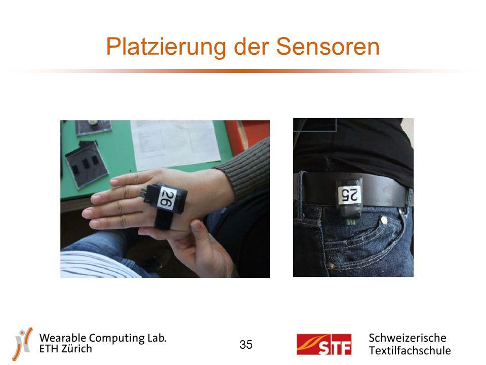 Platzierung der Sensoren 34