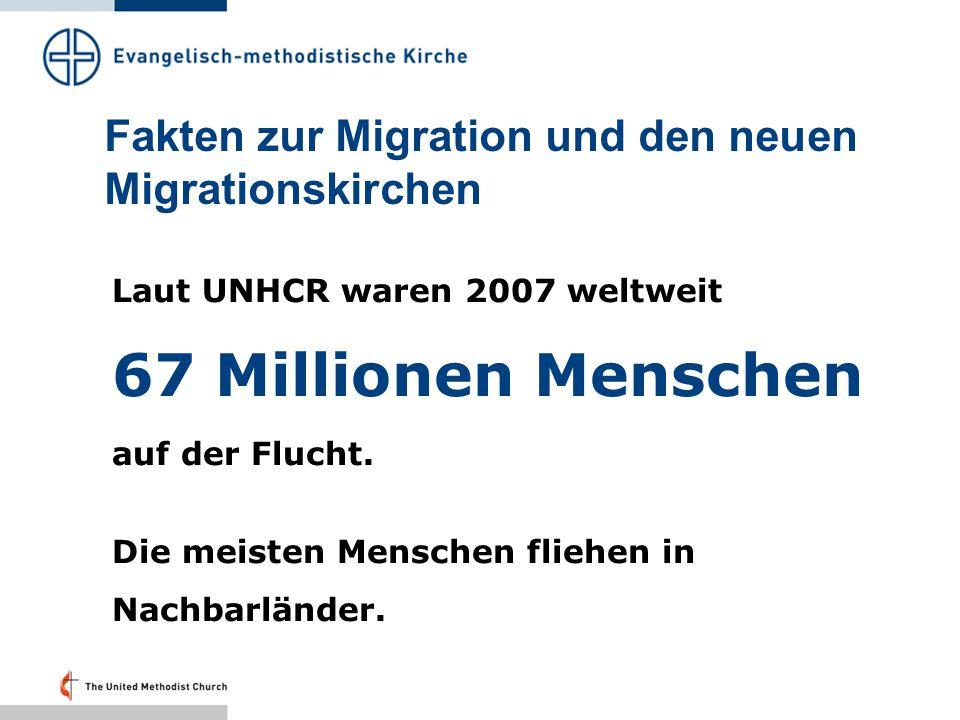 Fakten zur Migration und den neuen Migrationskirchen In der Demokratischen Republik Kongo gibt es ungefähr 1 Million Flüchtlinge.