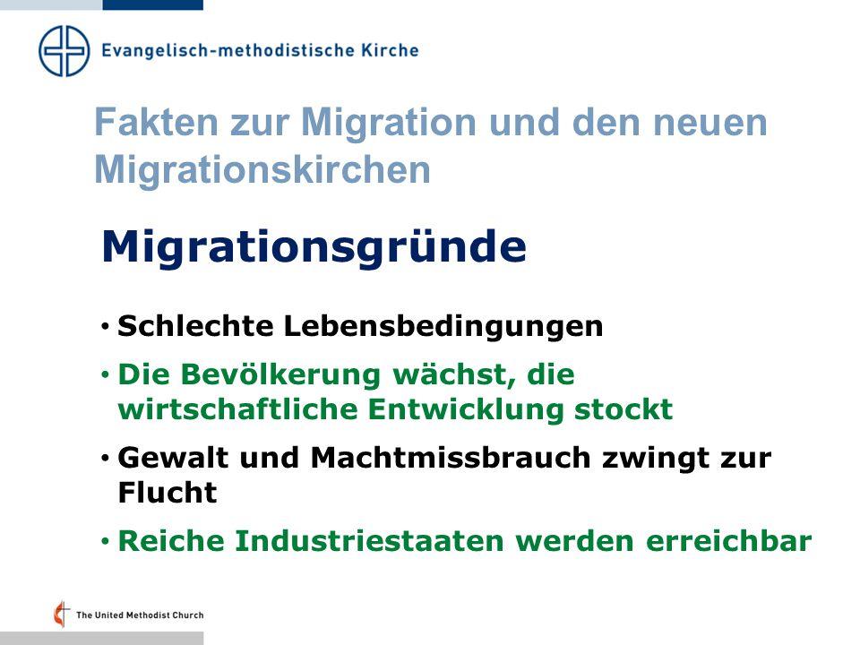 Fakten zur Migration und den neuen Migrationskirchen Die Bischöfe der EMK nennen die drei grossen Gefährdungen der Menschheit.