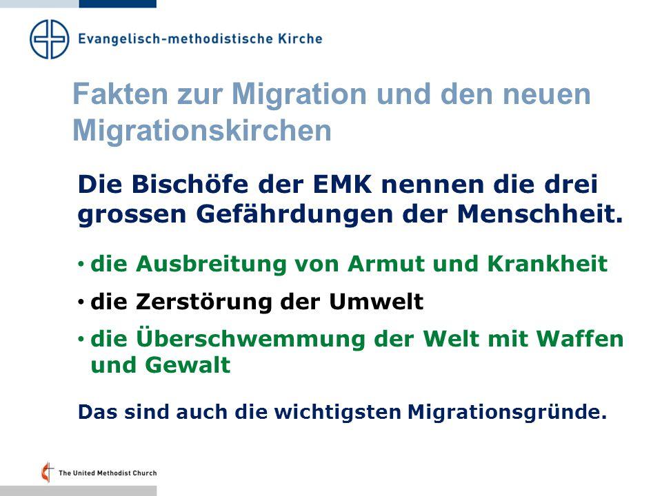 Fakten zur Migration und den neuen Migrationskirchen In der Schweiz gibt es folgende EMK-Migrantengemeinden: Koreaner:St.