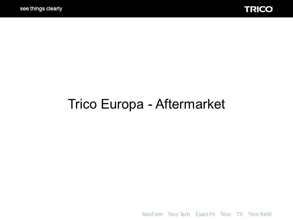 NeoForm Trico Tech Exact-Fit Trico TX Trico Refill see things clearly Inhalt Trico – Wer & Warum Der Markt Produkte Katalogisierung Marketing - Unterstützung Das alles zählt….