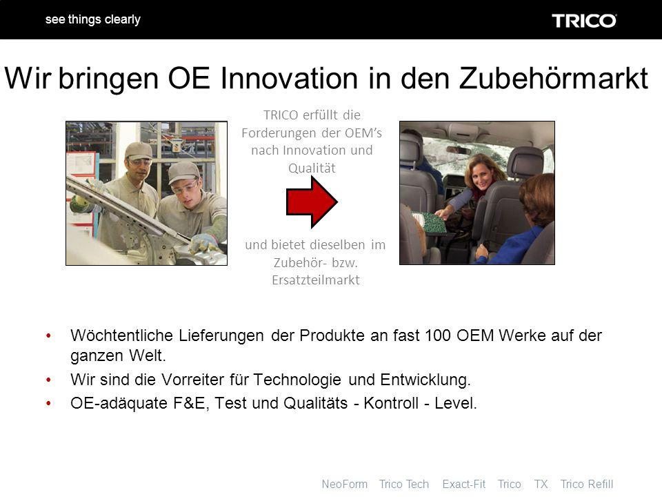 NeoForm Trico Tech Exact-Fit Trico TX Trico Refill see things clearly Was bedeutet Trico's Wischerblätter – Erfahrung für Sie.