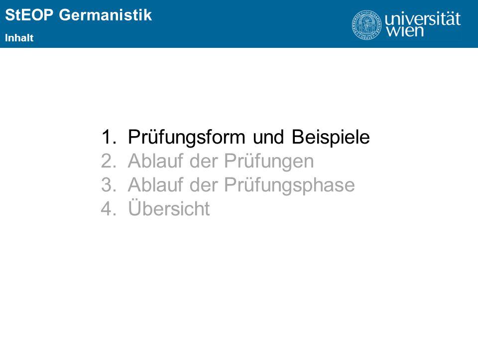ÜBERSCHRIFT StEOP Germanistik 1.