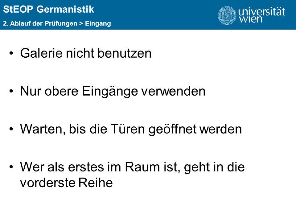 ÜBERSCHRIFT StEOP Germanistik 2.