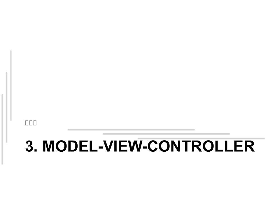 3. MODEL-VIEW-CONTROLLER MVC