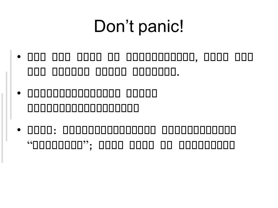 Don't panic. Ist nur halb so kompliziert, wies auf den ersten Blick scheint.