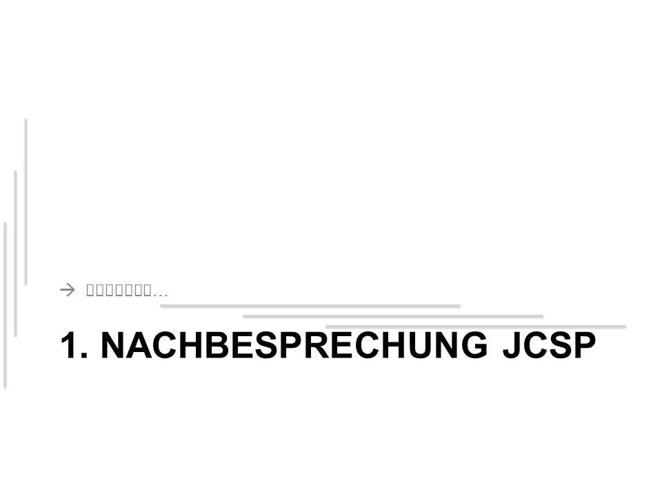 1. NACHBESPRECHUNG JCSP  Eclipse …