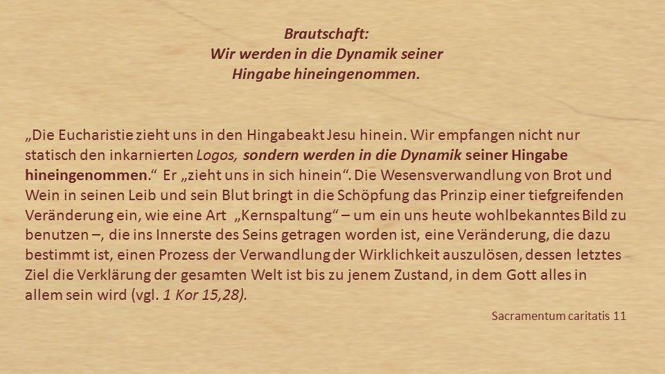 """""""Die Eucharistie ist das Sakrament unserer Erlösung."""
