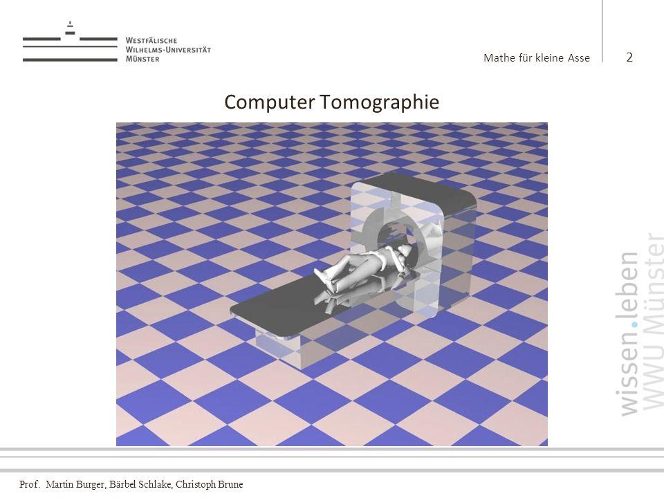 Prof. Martin Burger, Bärbel Schlake, Christoph Brune Computer Tomographie Mathe für kleine Asse 3