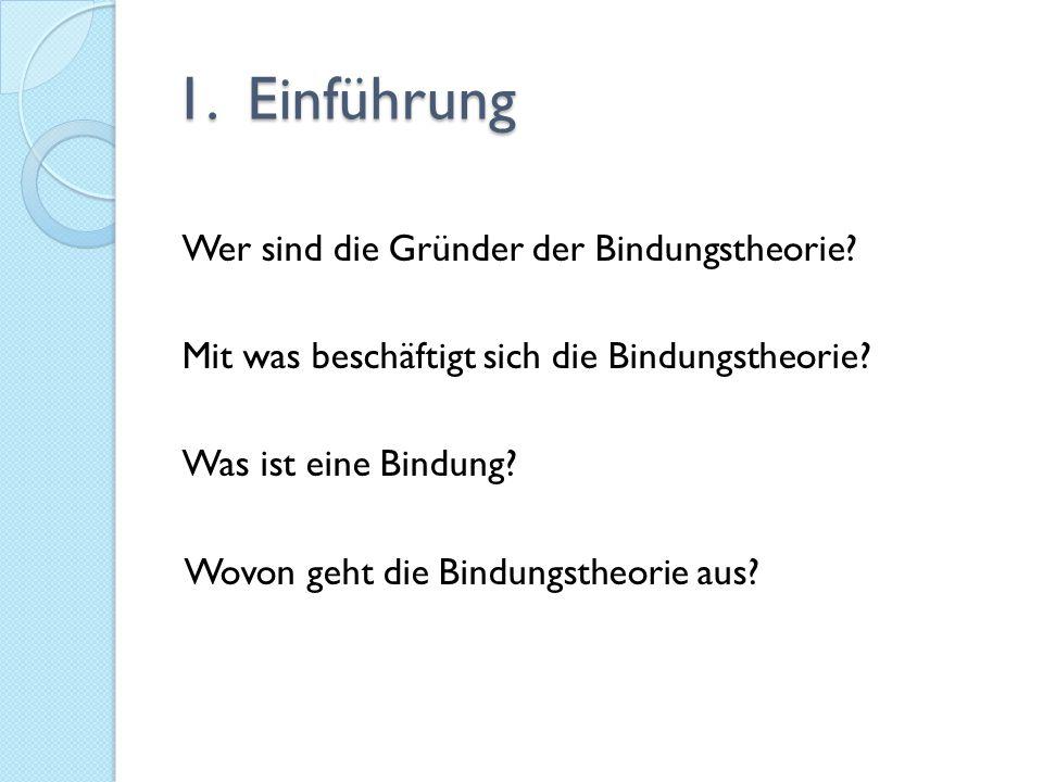 Quellen - Frühe Bindung.Entstehung und Entwicklung.