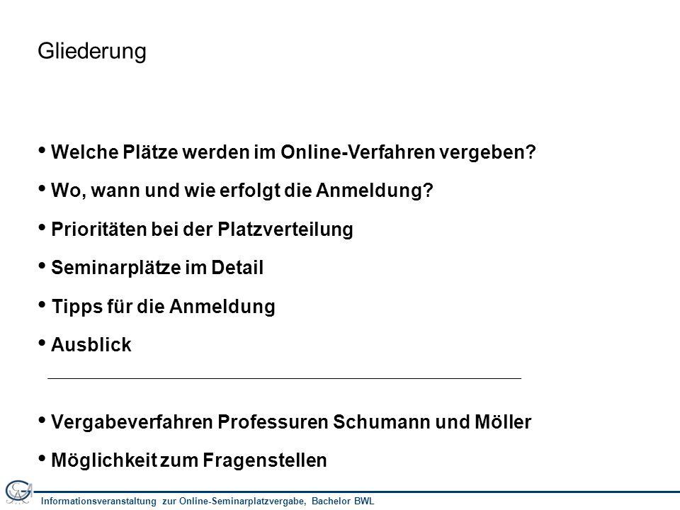 Informationsveranstaltung zur Online-Seminarplatzvergabe, Bachelor BWL 13 Wie geht es nach der Verteilung weiter.