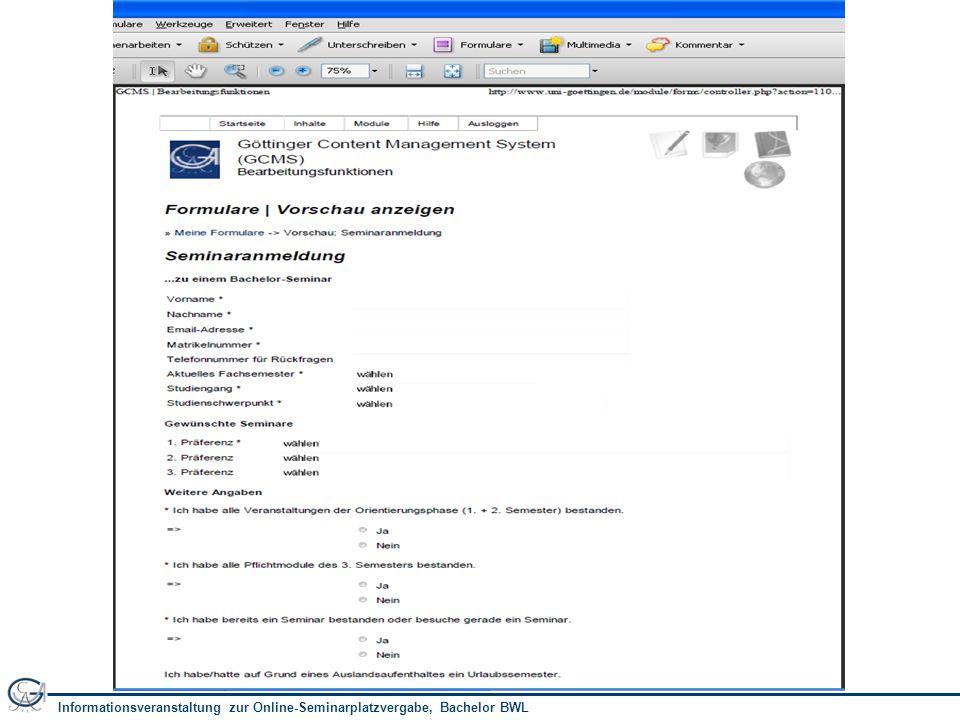 Informationsveranstaltung zur Online-Seminarplatzvergabe, Bachelor BWL 5