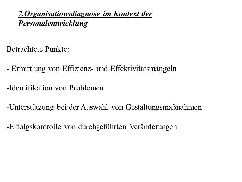 Betrachtete Punkte: - Ermittlung von Effizienz- und Effektivitätsmängeln -Identifikation von Problemen -Unterstützung bei der Auswahl von Gestaltungsm