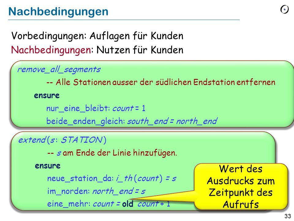 33 remove_all_segments -- Alle Stationen ausser der südlichen Endstation entfernen ensure nur_eine_bleibt: count = 1 beide_enden_gleich: south_end = n