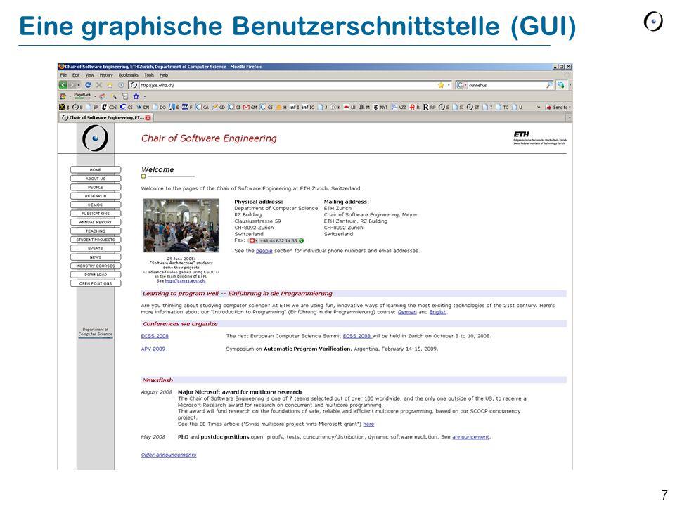 7 Eine graphische Benutzerschnittstelle (GUI)