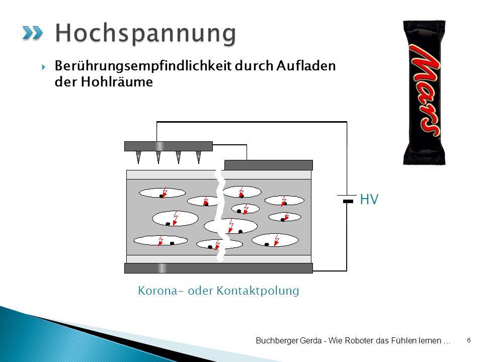 6 HV Korona- oder Kontaktpolung Buchberger Gerda - Wie Roboter das Fühlen lernen …  Berührungsempfindlichkeit durch Aufladen der Hohlräume