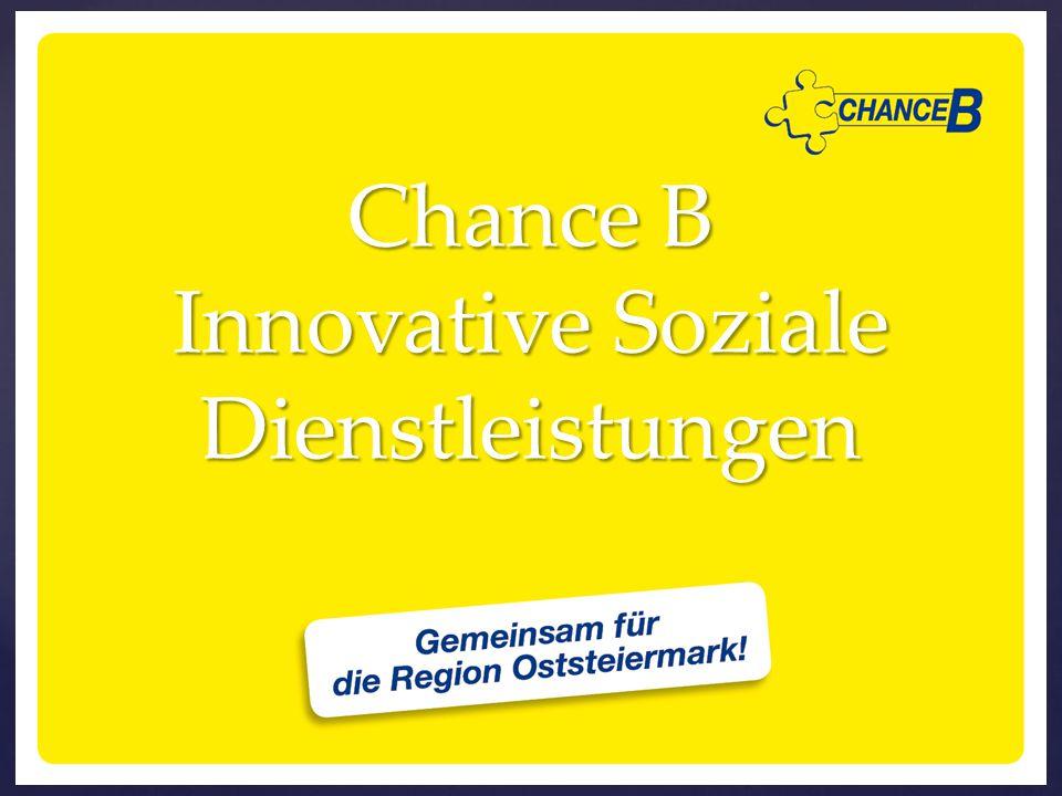 { Chance B Innovative Soziale Dienstleistungen