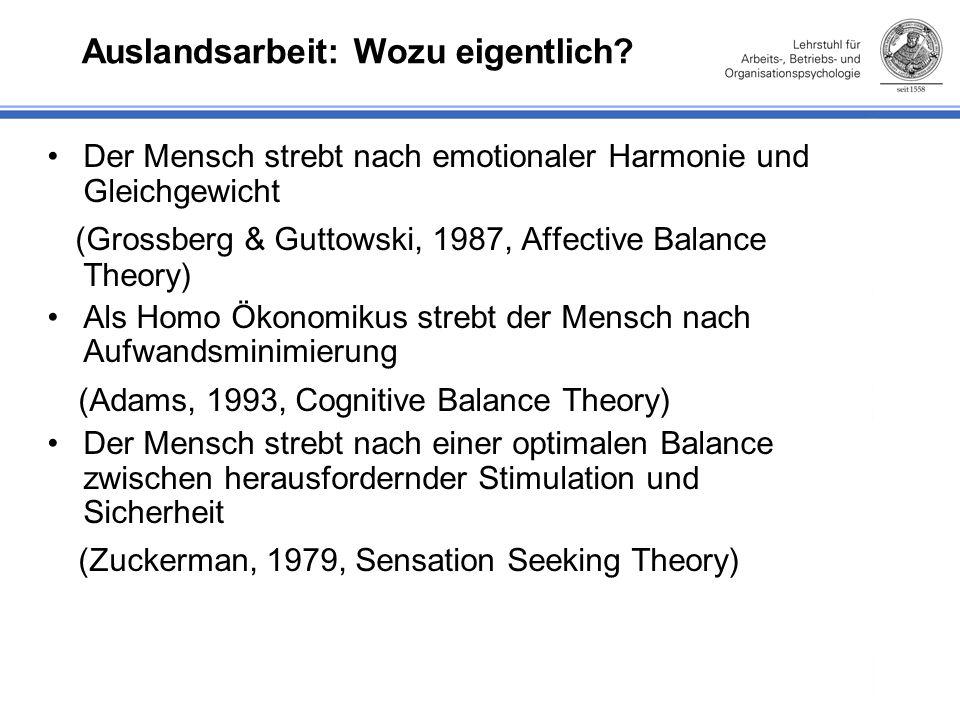 Inhaltliche Herausforderungen an die Psychologie Welche therapeutischen Maßnahmen wären bei der Adaptation und Rückkehr hilfreich.