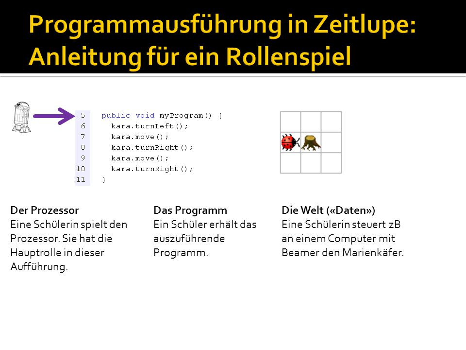 Methode myProgram Zeile 6 myProgramm: 6