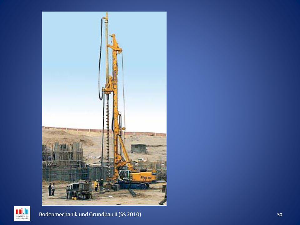 30 Bodenmechanik und Grundbau II (SS 2010)