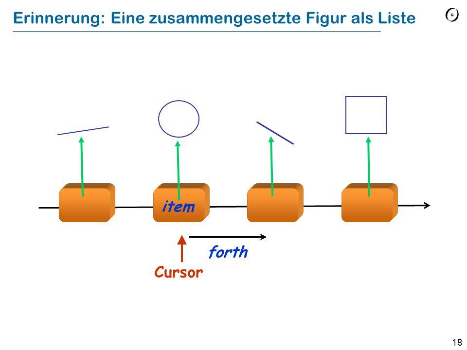 19 Die History-Liste Eine polymorphe Datenstruktur: history : TWO_WAY_LIST [COMMAND] Löschen Austauschen Einfügen Am Ältesten Am Neusten