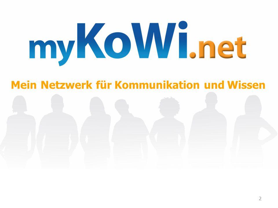 2 Kommunikation und Mein Netzwerk fürWissen
