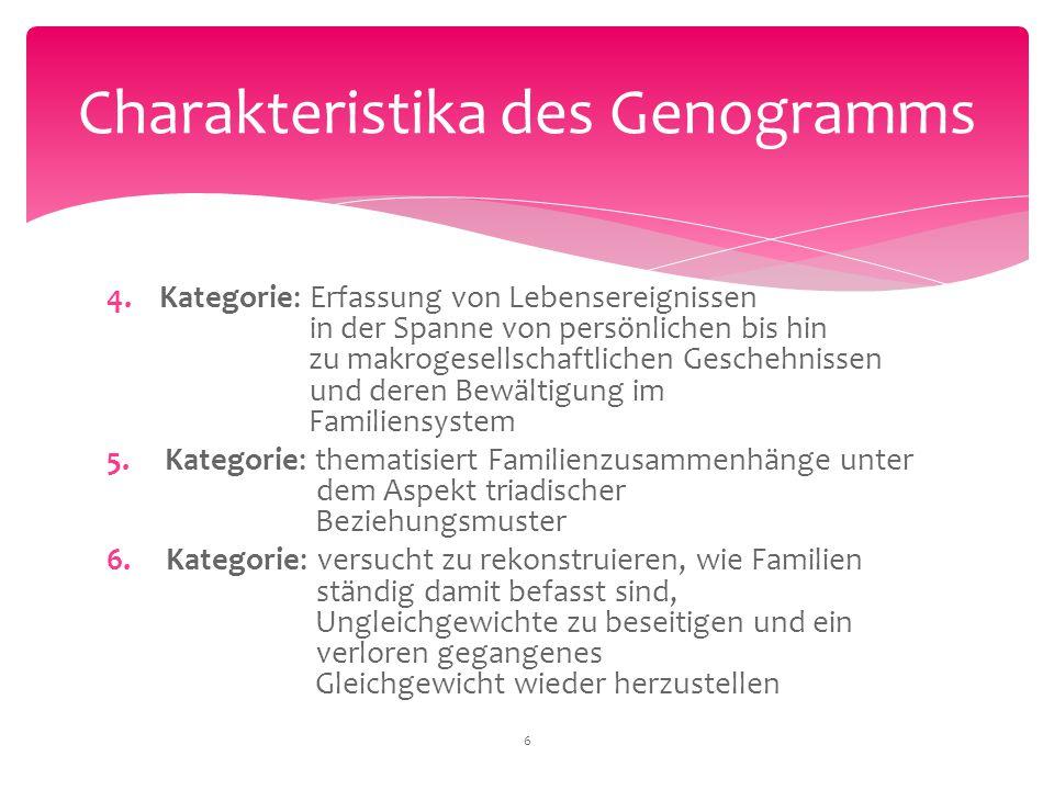 4. Kategorie: Erfassung von Lebensereignissen in der Spanne von persönlichen bis hin zu makrogesellschaftlichen Geschehnissen und deren Bewältigung im