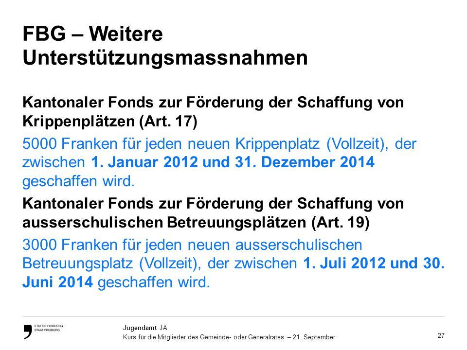 27 Jugendamt JA Kurs für die Mitglieder des Gemeinde- oder Generalrates – 21.
